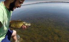 Žvejo sugauta žuvis