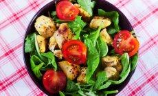 Špinatų ir vištienos salotos
