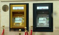 Pirmasis pasaulyje bankomatas 50-mečio proga virto auksiniu