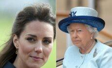 Kate Middleton ir karalienė Elžbieta II-oji