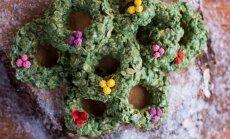 Kalėdiniai avižinių dribsnių vainikai