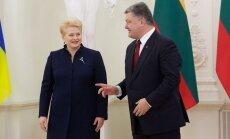 Dalia Grybauskaitė, Petro Poroshenko