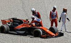 McLaren bolidas Ispanijoje