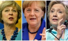 Th. May, A. Merkel, H. Clinton