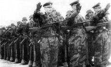 1-osios ROA divizijos karių paradas Miunzingeno stovykloje.