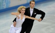Isabella Tobias with her Lithuanian partner Devidas Stagniūnas in Sochi