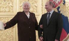 Nina Ponomariova ir Vladimiras Putinas