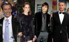 Arnoldas Schwarzeneggeris, Kristen Stewart, Ashton Kutcher, Brad Pitt