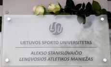 LSU lengvosios atletikos maniežui suteiktas A. Stanislovaičio vardas (LSU nuotr.)