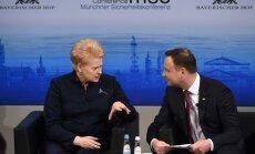 Presidents Dalia Grybauskaitė and Andrzej  Duda