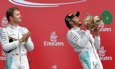 Nico Rosbergas ir Lewisas Hamiltonas