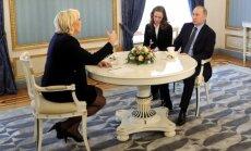 Marine Le Pen ir Vladimiras Putinas