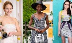 Stilingiausias 2014-ųjų moterų trejetukas: Jennifer Lawrence, Lupita Nyong'o, Kristen Stewart.