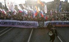 B. Nemcovo atminimui surengtos eitynės Maskvoje