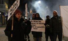 Demonstracija prie Kauno restorano