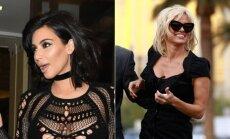 Kim Kardashian ir Pamela Anderson dažnai neišvengia grožio bėdų.