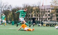 """Hegelman Litauen"" futbolo klubo rungtynių momentas."