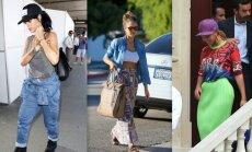 Rihanna, Jessica Alba, Beyoncé kasdienis stilius labai skiriasi nuo to, kurį matome vakarėliuose ir viešuose renginiuose.