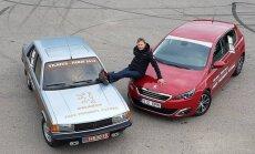 Vitoldas Milius nusprendė kelionėje palyginti 33 metų Peugeot 305 ir naują Peugeot 308