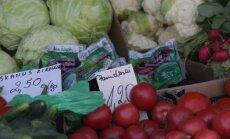 Vegetables on sale at Kaunas market