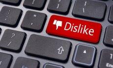 Dislike (nepatinka) mygtukas