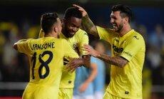 Villarreal futbolininkų džiaugsmas