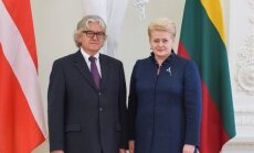 Ambassador of the Kingdom of Denmark, Dan E. Frederiksen, and President Dalia Grybauskaitė