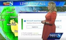 """Orų prognozės metu iššoko """"Windows 10"""" naujinimų lentelė"""