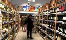 Vyno skyrius Suvalkų parduotuvėje