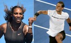 Serena Williams ir Rafaelis Nadalis (AFP ir Reuters nuotr.)
