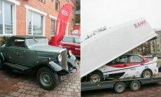 Britišką Terraplane automobilį, kuriuo važinėjo Pranas Hiksa, Deividas Jocius pakeitė į Mitsubishi Evo 9