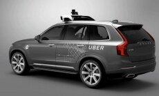 Uber kompanijos ruošiamas Volvo XC90 automobilis