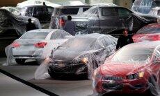 General Motors stendas prieš parodos Detroite atidarymą