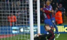 Crystal Palace futbolininkai džiaugiasi įvarčiu