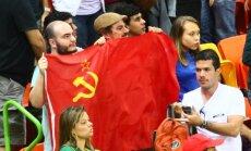 SSRS vėliava Rio de Žaneiro olimpinėje arenoje