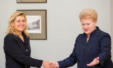 Dalia Grybauskaitė meeting Liana Ruokyte – Jonsson