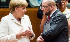Angela Merkel ir Martinas Schulzas