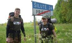 R. Ušacko ir L. Kasnausko žygis per Lietuvą