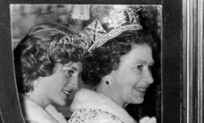 Princesė Diana ir karalienė Elizabeth