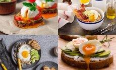 Pusryčių idėjos su kiaušiniais