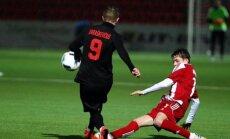"""Radviliškio """"Lokomotyvo"""" futbolo klubo rungtynių momentas."""