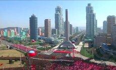 Šiaurės Korėjoje oficialiai atidaryta dangoraižių gatvė