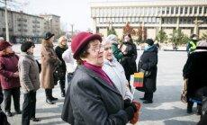 Mitingas prie Seimo, skirtas pensijų ir algų didinimui
