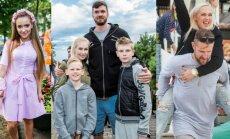 Monika Šalčiūtė, Darjušas Lavrinovičius su šeima, Indrė Stonkuvienė su vyru Mantu
