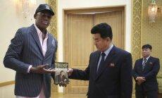 Dennisas Rodmanas vieši Šiaurės Korėjoje