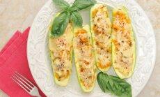 Daržovėmis ir sūriu įdarytos cukinijos