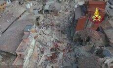 Dronas užfiksavo vienam gražiausių Italijos miestelių žemės drebėjimo padarytą žalą