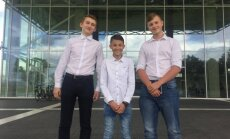 Žygimantas Krasauskas (14 m.), Rokas Kasperavičius (15 m.) ir Rapolas Urbonas (15 m.)