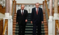 """V. Putinas davė pradžią """"Turkstream"""" dujotiekio projekto dalies įgyvendinimui"""
