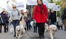 Neringa Čereškevičienė ir J. Jusionytė praėjusių metų šunų ir jų šeimininkų eisenoje